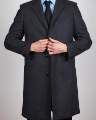 Fibre Long Coat – Charcoal